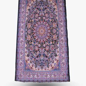 فرش کناره ۱۰۵۰ شانه نقش اصفهان سرمه ای