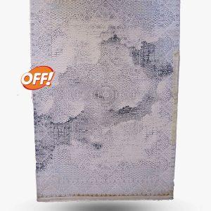 فرش آمیتیس ۷۰۰ شانه کد ۵۰۲ سفید طوسی