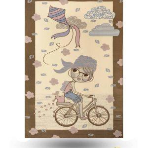 فرش کودک طرح دوچرخه